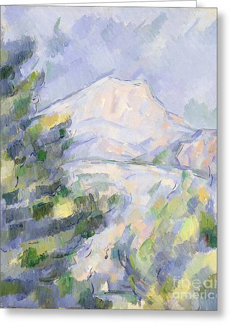 Victoire Greeting Cards - Mont Sainte-Victoire Greeting Card by Paul Cezanne