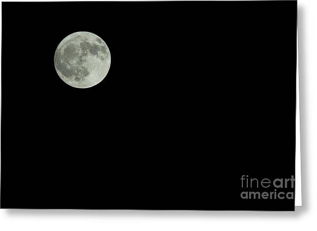 Sweating Photographs Greeting Cards - Moon Greeting Card by Odon Czintos