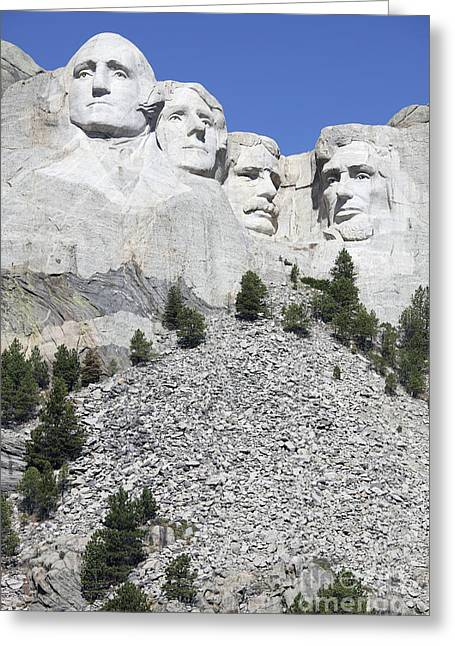 Dakota Faces Photographs Greeting Cards - Mount Rushmore National Memorial, South Greeting Card by Richard Roscoe