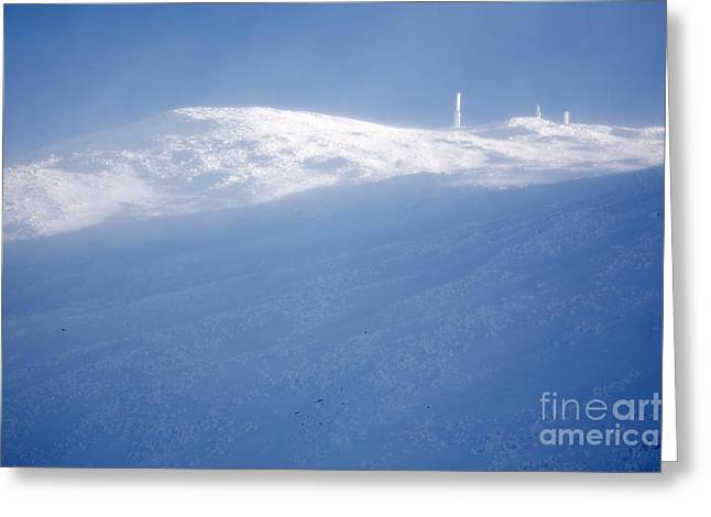 Blowing Snow Greeting Cards - Mount Washington New Hampshire - Winter Greeting Card by Erin Paul Donovan