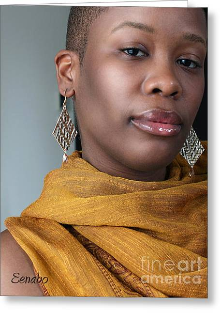 Orange Earrings Greeting Cards - My Art Jewelry Greeting Card by Eena Bo