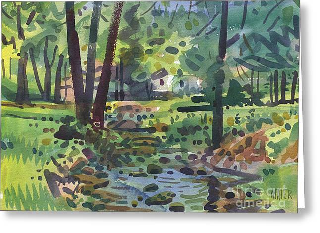 Creek Greeting Cards - My Creek  Greeting Card by Donald Maier