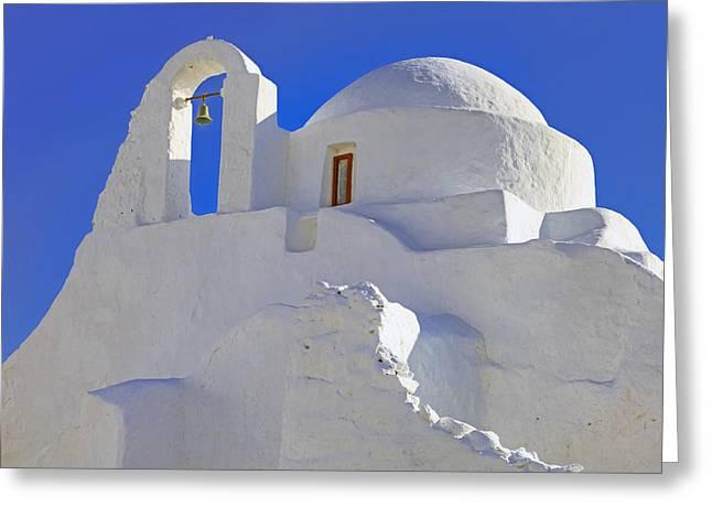 Panagia Greeting Cards - Mykonos Greeting Card by Joana Kruse