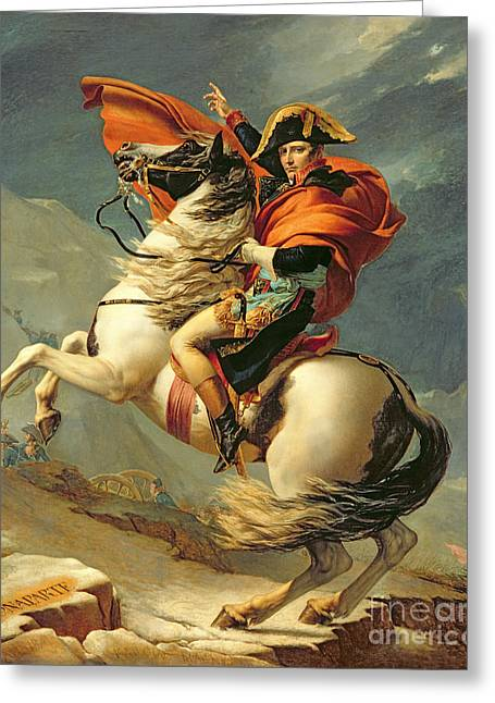 Neo Greeting Cards - Napoleon Crossing the Alps on 20th May 1800 Greeting Card by Jacques Louis David
