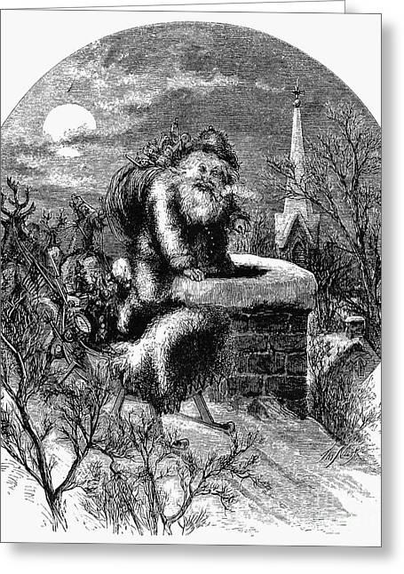 Nast Greeting Cards - Nast: Santa Claus Greeting Card by Granger