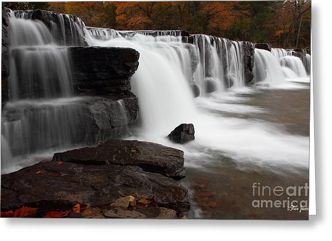 Natural Dam Arkansas Greeting Cards - Natural Dam Greeting Card by Steve Javorsky