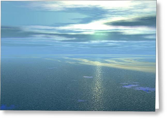 Helium Greeting Cards - Neptune Greeting Card by Christian Darkin