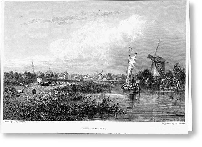 1833 Greeting Cards - Netherlands: The Hague Greeting Card by Granger
