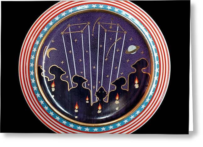 Tears Ceramics Greeting Cards - New constellation - Twins 2. Greeting Card by Vladimir Shipelyov