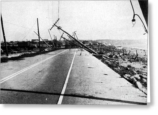Yankees Greats Greeting Cards - New England Hurricane Damage, 1938 Greeting Card by Science Source