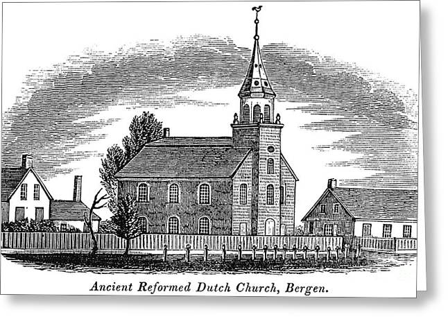 NEW JERSEY: CHURCH, 1844 Greeting Card by Granger