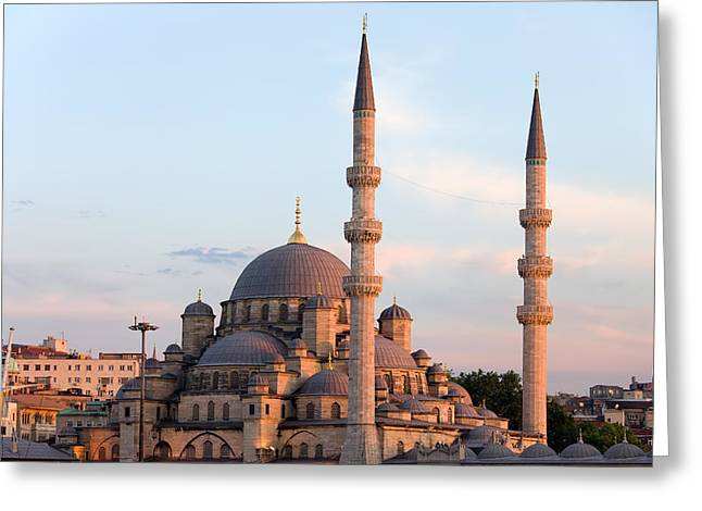 Cupola Greeting Cards - New Mosque in Istanbul Greeting Card by Artur Bogacki