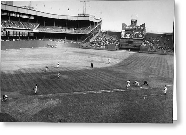 Pittsburgh Greeting Cards - New York: Polo Grounds Greeting Card by Granger