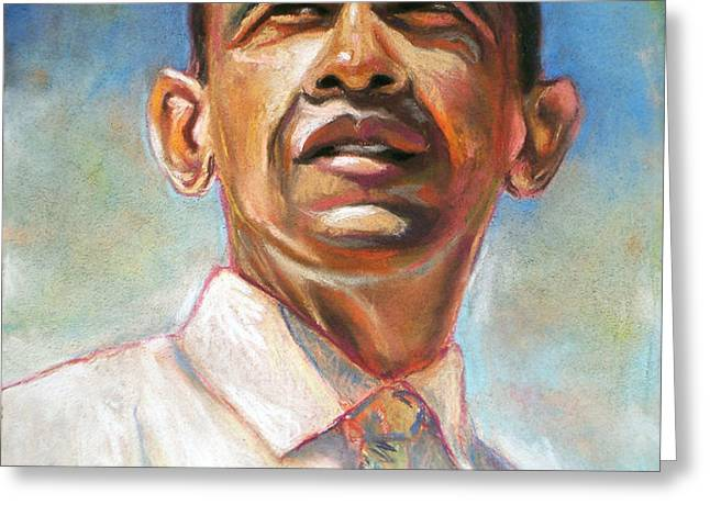 Obama 08 Greeting Card by Dennis Rennock