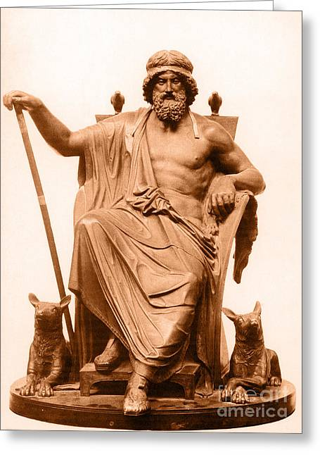 Historic Statue Greeting Cards - Odin, Norse God Greeting Card by Photo Researchers