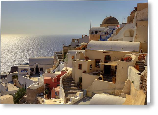 Oia Greeting Cards - Oia - Santorini Greeting Card by Joana Kruse