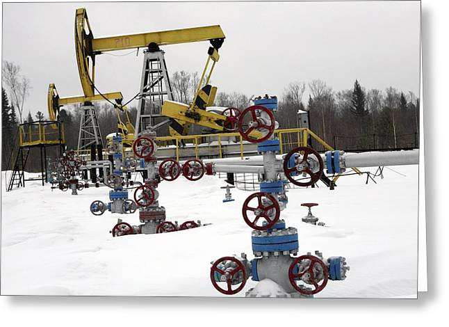 Beam Pump Greeting Cards - Oil Field Greeting Card by Ria Novosti
