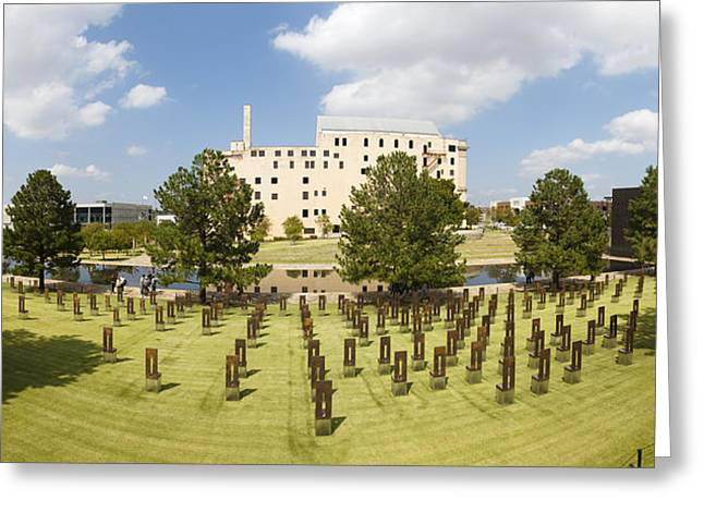 Empty Chairs Greeting Cards - Oklahoma City National Memorial Greeting Card by Ricky Barnard
