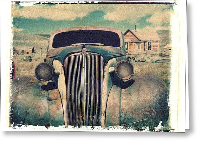 Polaroid Transfer Greeting Cards - Old Car Bodie Greeting Card by Joe  Palermo