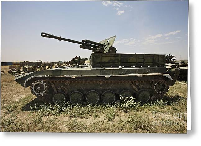 Russian Civil War Greeting Cards - Old Russian Bmp-1 Infantry Fighting Greeting Card by Terry Moore