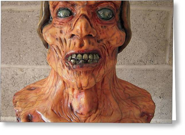Ole Leather head Greeting Card by Scott Conner
