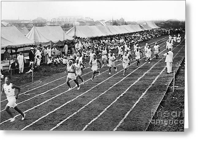 Footrace Greeting Cards - Olympic Games, 1912 Greeting Card by Granger