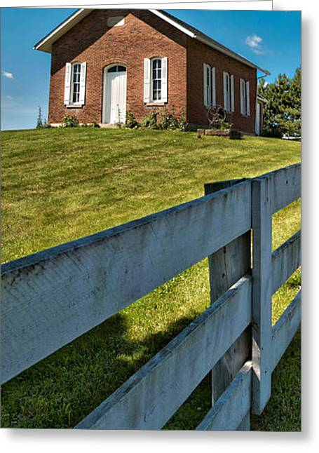 One Room School Greeting Cards - One Room Schoolhouse Greeting Card by Brian Mollenkopf