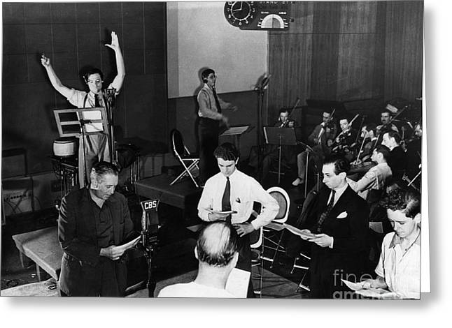 Music Stand Greeting Cards - Orson Welles (1915-1985) Greeting Card by Granger