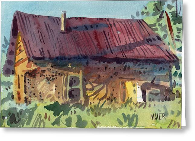 Outbuilding Greeting Cards - Outbuilding Greeting Card by Donald Maier