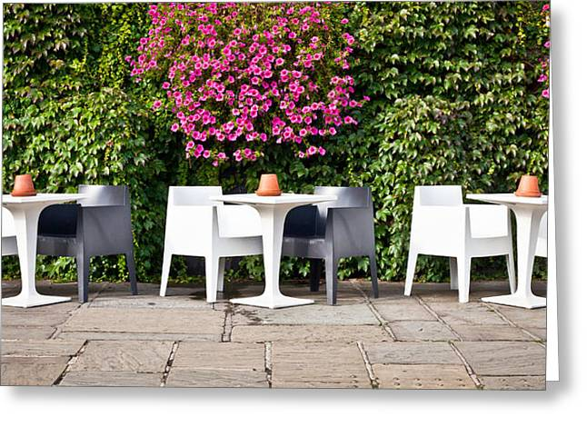 Outdoor cafe Greeting Card by Tom Gowanlock