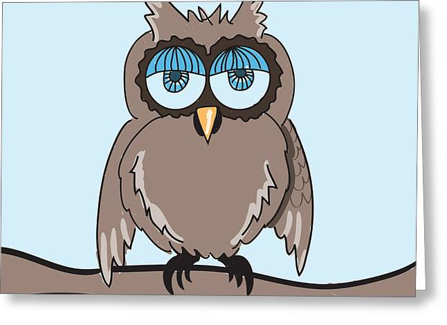 Cute Owl Greeting Cards - Owl Greeting Card by HD Connelly