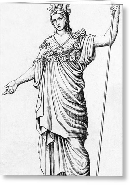 Ancient Greek Art Greeting Cards - Pallas, Greek Goddess Greeting Card by Photo Researchers