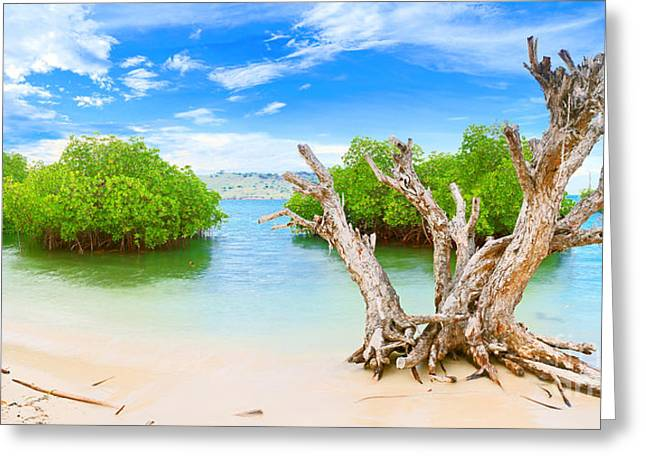 Ocean Panorama Greeting Cards - Panorama island Greeting Card by MotHaiBaPhoto Prints