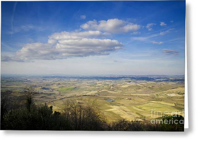 Branch Hill Greeting Cards - Panorama view over the field Greeting Card by Mats Silvan