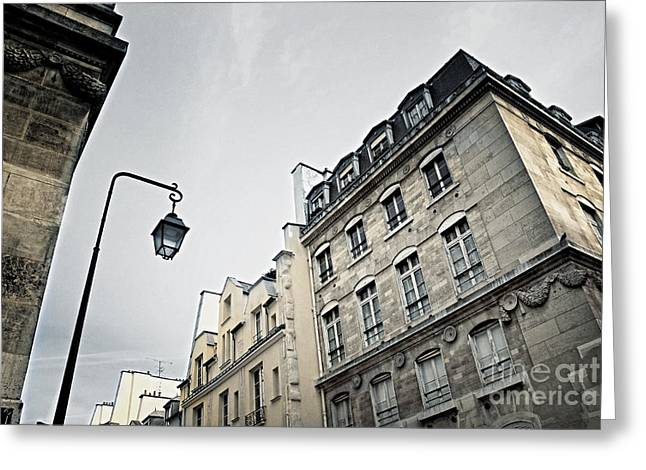 Building. Home Greeting Cards - Paris street Greeting Card by Elena Elisseeva