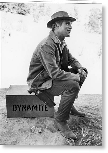 Butch Cassidy Greeting Cards - Paul Newman (1925-2008) Greeting Card by Granger