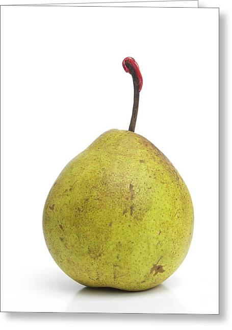 Simplicity Greeting Cards - Pear Greeting Card by Bernard Jaubert