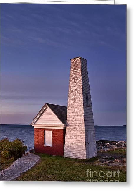 Maine Lighthouses Greeting Cards - Pemaquid Point bell House Greeting Card by John Greim