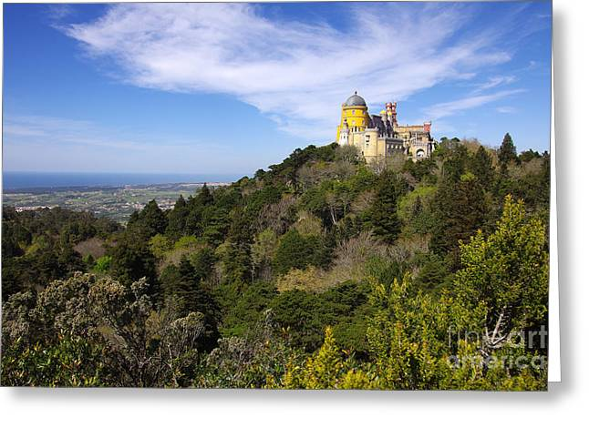 Pena Palace Greeting Card by Carlos Caetano