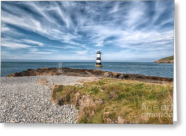 Sea Shore Greeting Cards - Penmon Point Greeting Card by Adrian Evans