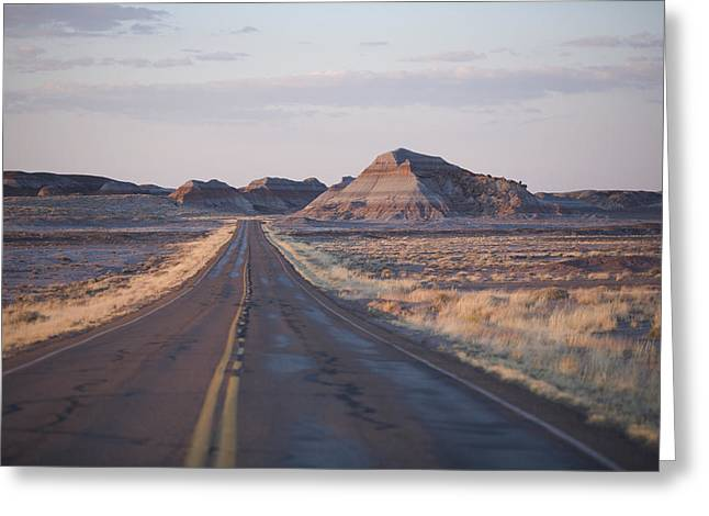 Petrified Forest Greeting Cards - Petrified Forest National Park, Arizona Greeting Card by John Burcham