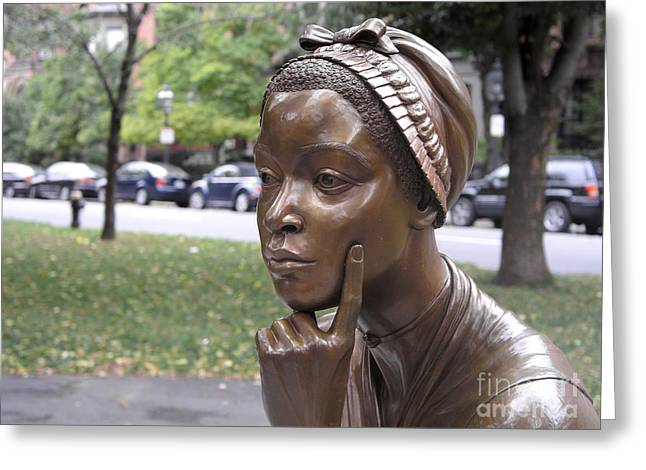 Statue Portrait Greeting Cards - Phillis Wheatley Greeting Card by Granger