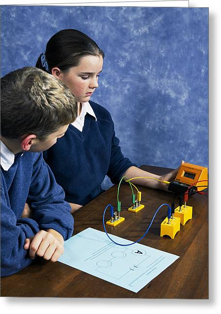 Schoolgirl Greeting Cards - Physics Experiment Greeting Card by Andrew Lambert Photography