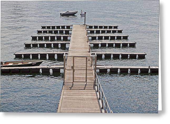 Lago Greeting Cards - Pier Greeting Card by Joana Kruse