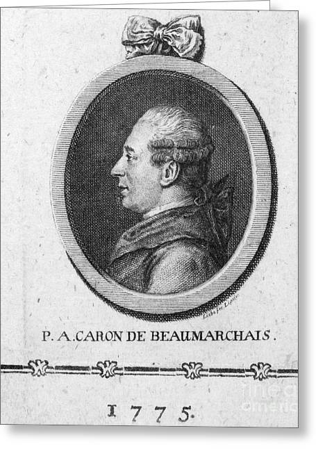 Caron Greeting Cards - PIERRE de BEAUMARCHAIS Greeting Card by Granger