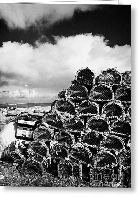 Large Scale Greeting Cards - Pile Of Lobster Pots Stacked In The West Coast Of Ireland Greeting Card by Joe Fox