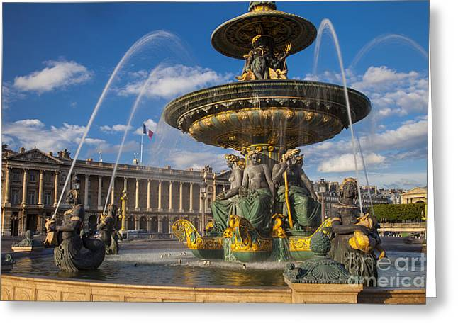 Jet Art Greeting Cards - Place de la Concorde Greeting Card by Brian Jannsen