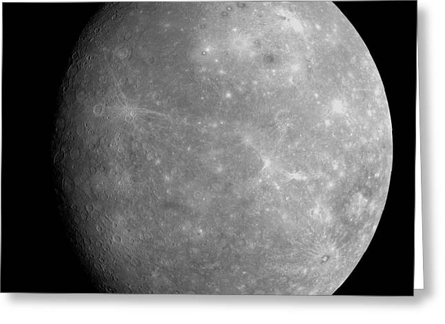 Astrogeology Greeting Cards - Planet Mercury Greeting Card by Stocktrek Images
