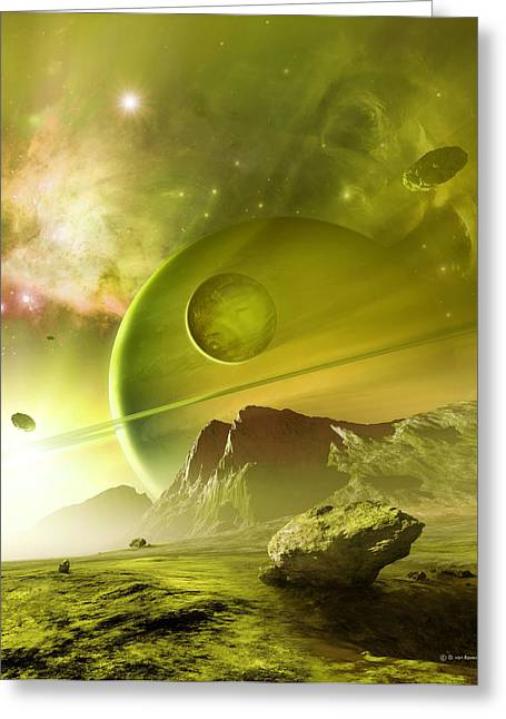 Emission Nebula Greeting Cards - Planets In The Orion Nebula Greeting Card by Detlev Van Ravenswaay