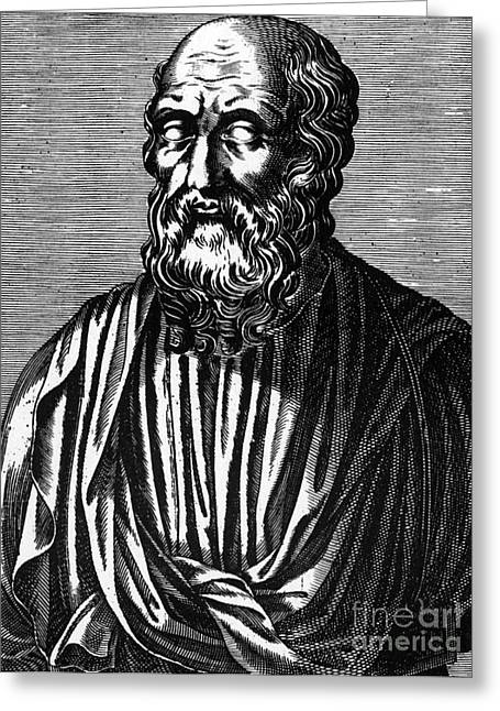 Rational Greeting Cards - Plato, Ancient Greek Philosopher Greeting Card by Science Source